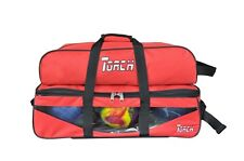 NEW TORCH RED  3 BALL TOTE ROLLER &  W/SHOE AND ACCESSORY BAG ON SALE