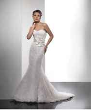 Mermaid Wedding Dress Suzette by Sottero and Midgley Lace in white Size 8 New