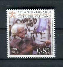 Vaticano 2014 25° anniversario crollo del muro di Berlino MNH
