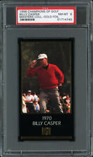 1997-98 GRAND SLAM VENTURES GOLF MASTERS GOLD FOIL #NN BILLY CASPER (1970) PSA 8