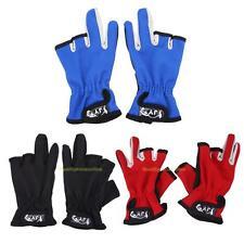 1Pair Outdoor Nonslip 3 Fingerless Low Cut Fingers Anti Slip Fish Fishing Gloves