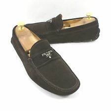 Prada Milano Suede Loafer Driving Shoe Brown Size 8 US  7 EU