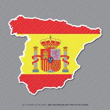 España-español Mapa Bandera Pegatina-Coche-Laptop-Macbook Notebook - 2954
