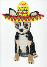 Sequin Patch: Sombrero Dog (M142)