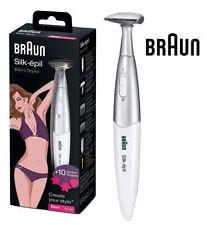 Braun FG1100 BIANCO pen-sized PILE Silk-épil Bikini Styler RASOIO &