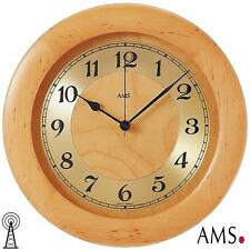 AMS 41 Radio Reloj De Pared Oficina Madera Maciza Aliso Cocina la Sala trabajo