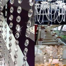 Chandelier Clear Crystal Acrylic Octagon Lamp Bead Chain Wedding Garland Decor