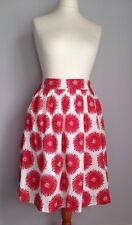 Rachel Riley Ladies Full Skirt Size 38 Uk 10 Red White Giant Floral Print Bnwt
