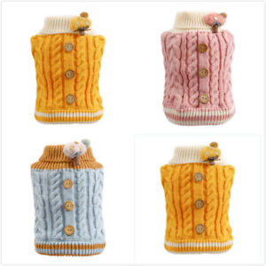 New 2021 Pet Dog Cat Clothes Knitted Jumper Sweater Puppy Warm Coat Jacket XS-XL