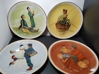 Vintage Norman Rockwell Four Seasons Plates 1976 Limited Edition 4 Plate Set New