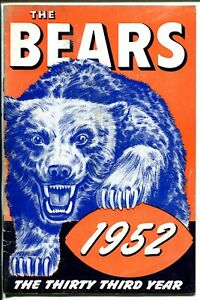 Chicago Bears NFL Football Team Yearbook/Media Guide 1952-giveaway item-VG+