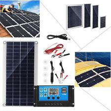 Solar Panel Dual USB+ Solar Charger+Alligator Clip Wire+DC Line 10/15/20/25W Kit