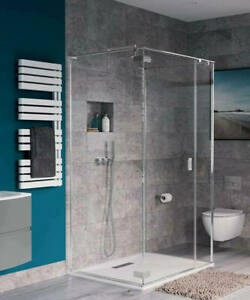 Crosswater Simpsons Svelte 3 Sided 1000 x 900 Shower Cubicle Chrome