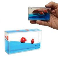 1 CLOWN FISH mini aquarium visual sensory toy fidget autism calming sped