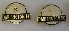 DARLINGTON  F.C THE NEW PRIDE OF THE NORTH Football Pin Badges x 2