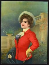 Vintage Victorian Print. Large Chromolithograph #8842. Germany. NICE! c.1910's.