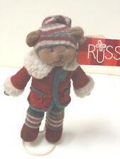 Russ Teddy Dutton mit Ständer Teddybär Bär Baer 19 cm aus Sammlung