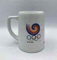 Vintage OLYMPICS 1983 Korea SLOOC 20oz Coffee Mug Cup OB Beer Pongsan Mask Dance