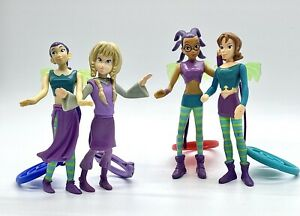 """McDonalds Happy Meal Toy Lot Disney's W.I.T.C.H  5"""" Figurines with Magic Charms"""