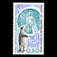 TAAF 1991 - 30th Anniversary of Postal Service to Crozet Bird - MNH