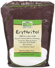 NOW Foods Erythritol Natural Sweetener - 2.5 lbs ZERO CALORIES, LOW GLYCEMIC