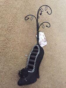 Black Lace High Heel Shoe Ring Holder Jewelry Display Nini S.S. Saran #6622