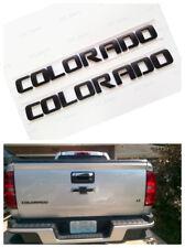 2PCS NEW Matte Black COLORADO 3D Letters Door Nameplate Emblem Badge Chevrolet