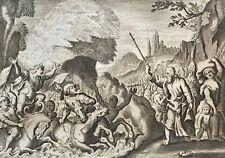 Moïse Mer Rouge Pharaon  Jacob Matham d'après Hendrick Goltzius 1606 -1652