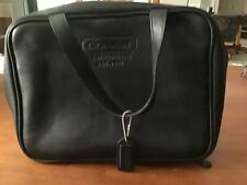MEN'S COACH BLACK LEATHER DOPP KIT WITH HANDLES