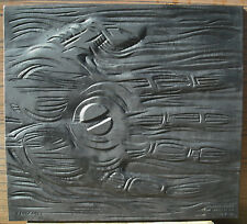 Plaque de cheminée Prométhée Yves Dugelay ex 2 / 25 Monnaie de Paris 1970 32 kg