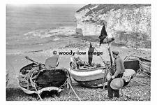 pt8272 - Fishing Boats at Flamborough , Yorkshire 1961 - photograph 6x4