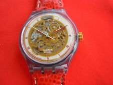 SWATCH AUTOMATIC ABENDROT - SAN103 - 1994 - NEW - leather strap - RARE