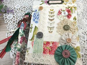 Vintage botanical junk journal flower garden journal shabby chic junk journal