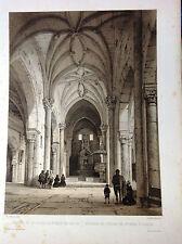 Toledo. Illescas, litografía original. Villaamil, 1842-1850.