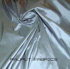 "54"" Wide 100% Silk Shantung Dupioni Fabric Silver Blue Dull Blue  (BY THE YARD)"