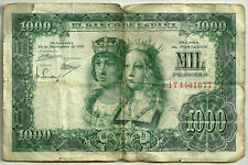 BILLETE DE 1000 PESETAS DE 1957 (RC) REYES CATÓLICOS (SERIE 1T) ROTURAS