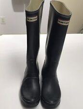 HUNTER  Original Unisex Tall Rain Boots Matte Black Size 6M/7F US Black