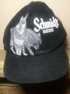 Trucker Hat Baseball Cap Vintage Snapback Corduroy Schmidt Beer Wolf C.F Pearson