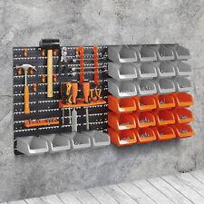 Tools Screws DIY Storage Bins 42pc Wall Mount Shelving Set Organiser Garage