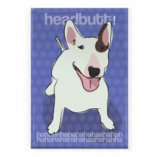 Pop Doggie Headbutt Haha Bull Terrier Fridge Magnet
