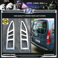 CITROEN BERLINGO CHROME REAR LIGHT COVERS HIGH QUALITY 3y GUARANTEE 2008-2013