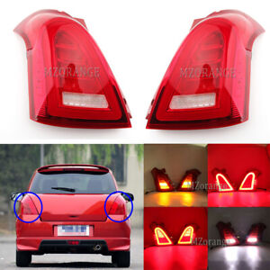 Left Right Side LED Rear Tail Light Lamp Red Lens For Suzuki Swift MK3 2005-2010