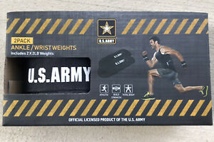 U.S. ARMY Ankle/Wrist Weights 2 Lbs 2 X 2Lb Pk