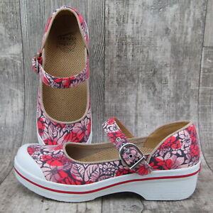 Dansko Valerie Clog Women Size 9 M EUR 39 Vegan Mary Jane Floral Shoe