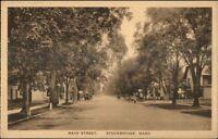 Stockbridge MA Main St. c1920 Postcard