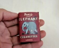 OLD VINTAGE ELEPHANT BRAND CIGARETTES MATCH COVER ADVERTISING  LONDON T1