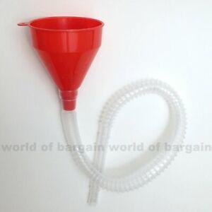 "25"" inch FUNNEL Extra Long Flexible Plastic Tube Car Oil Fluid Water Gas Fuel"