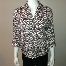 Foxcroft Shirt Size 14P Petite Womens Button Down Blouse Top Wrinkle Free Shaped