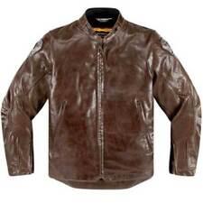 Blousons marrons pour motocyclette Homme