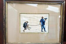 Mixed Primary 1850-1899 Painting/Scroll Asian Antiques